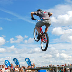 Bike Tricks And Stunts Image of a Bike Stunt