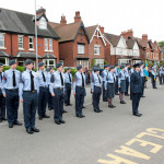 Image of Air Cadets standing to attention