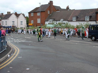Image of Green Man's Morris and Sword Club in the Procession