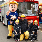 Image of Fireman Sam with kids