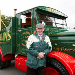 Anthony Harris with Pat Collins Funfair truck