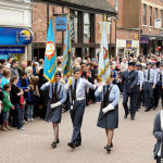 Image of Air Cadets marching with flag