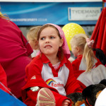 Image of Rainbows (Girl guides) girl pulling a face