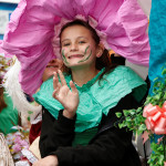 Image of girl on Erasmus Darwin Float