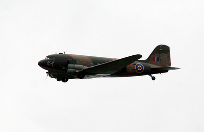 Image of a Douglas C47 Dakota flying by
