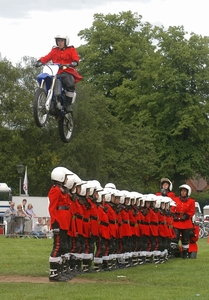 Image of Bike jumping