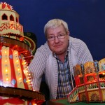 Image of Chris Gibson with his fairground models