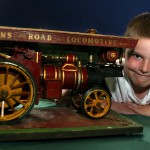 Image of Thomas Green-Wright with a model steam engine